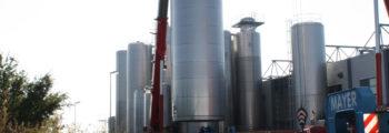 Milchtanklager vergrößert durch Errichtung eines 360.000 Liter Tanks