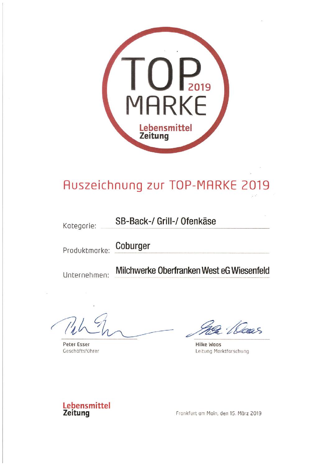 Top-Marke des Jahres 2019